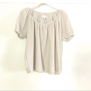 🍀🍀Madewell taupe textured summer top